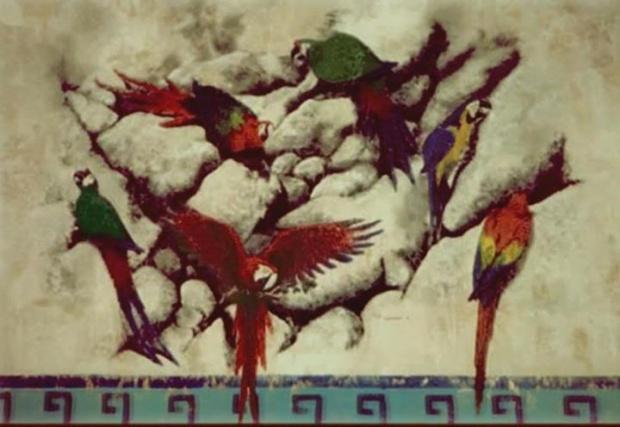 MACAW MURAL, Acrylic, 1997