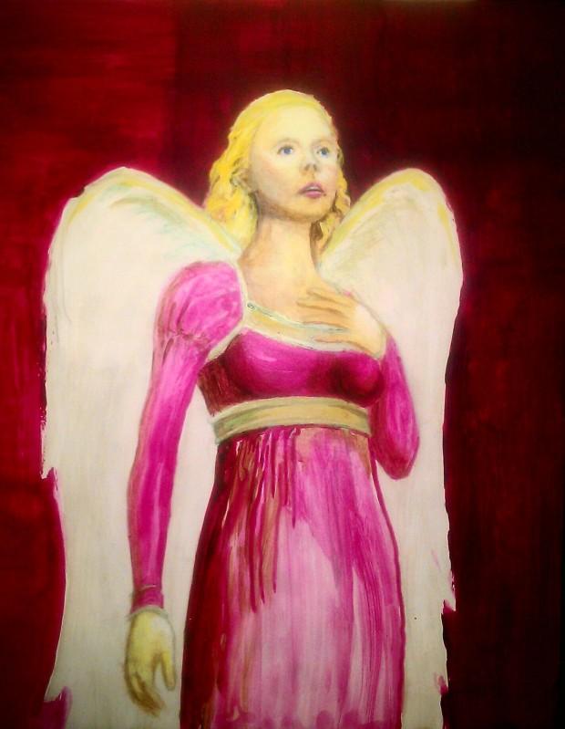 PORTFOLIO FLASHBACK: ANGEL STUDY, Acrylic on Masonite, 1998